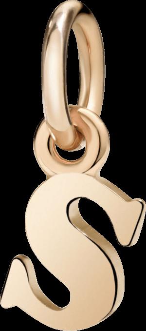 Charm Dodo Buchstabe S (klein) aus 375 Roségold