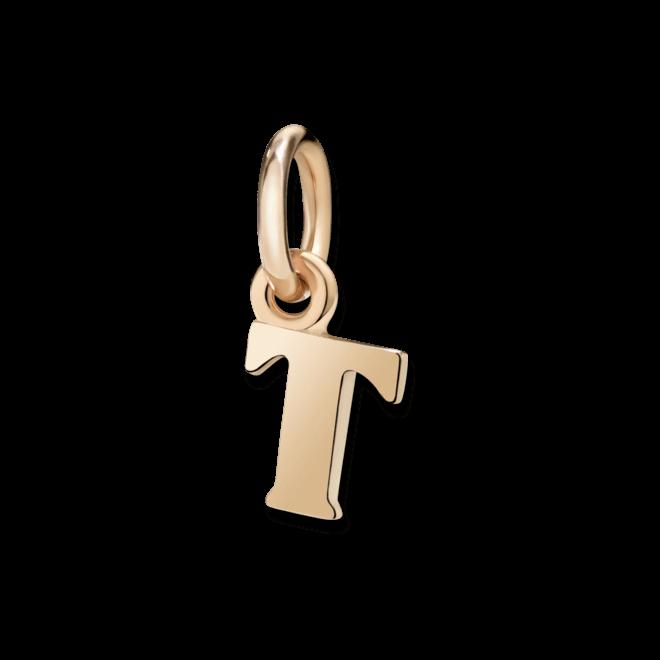 Charm Dodo Buchstabe T (klein) aus 375 Roségold