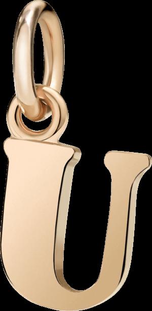 Charm Dodo Buchstabe U (groß) aus 375 Roségold