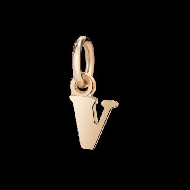 Charm Dodo Buchstabe V (klein) aus 375 Roségold