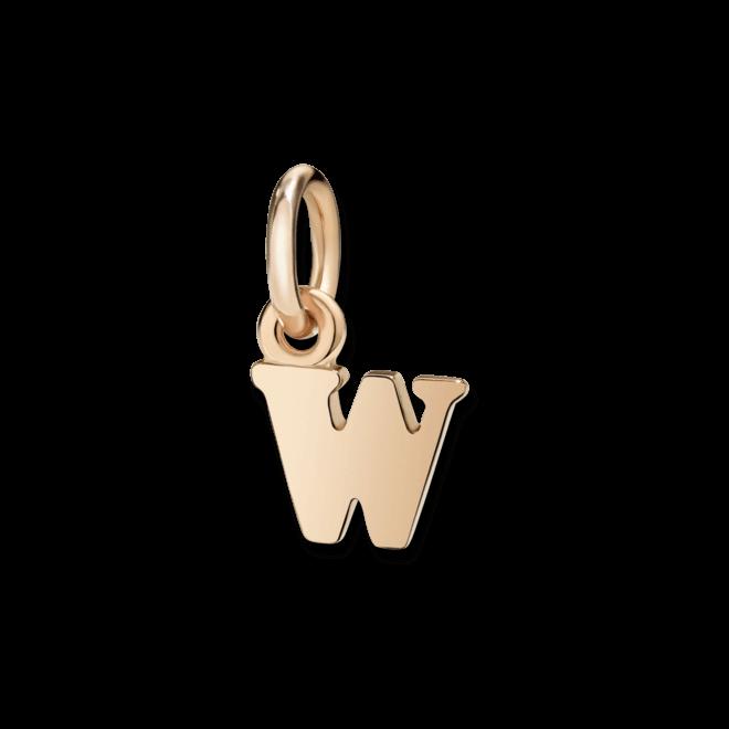 Charm Dodo Buchstabe W (klein) aus 375 Roségold