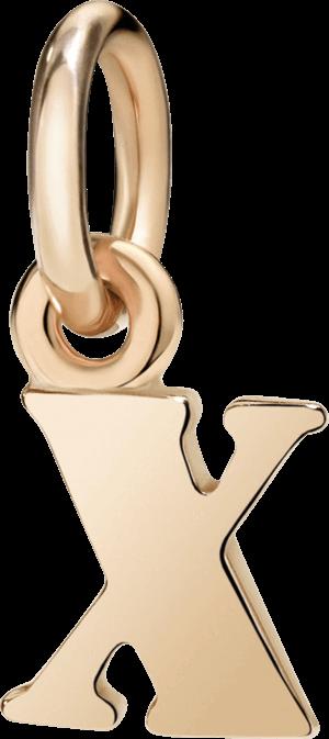 Charm Dodo Buchstabe X (klein) aus 375 Roségold