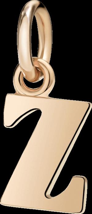Charm Dodo Buchstabe Z (groß) aus 375 Roségold