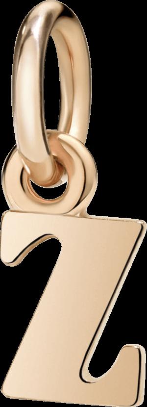 Charm Dodo Buchstabe Z (klein) aus 375 Roségold