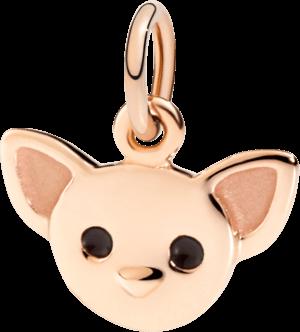 Charm Dodo Chihuahua aus 375 Roségold und Emaille