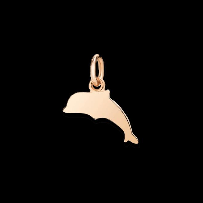 Charm Dodo Delfin (klein) aus 375 Roségold
