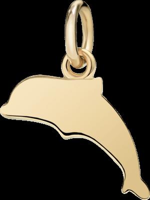 Charm Dodo Delfin (klein) aus 750 Gelbgold
