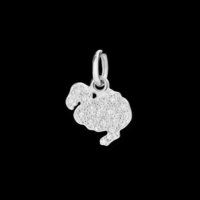 Charm Dodo Dodo (klein) Diamant aus 750 Weißgold mit mehreren Diamanten (0,1 Karat) bei Brogle