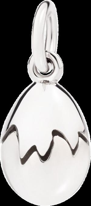 Charm Dodo Ei aus Silber