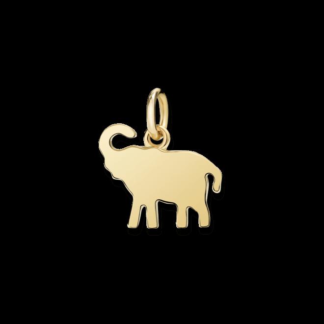 Charm Dodo Elefant (groß) aus 750 Gelbgold