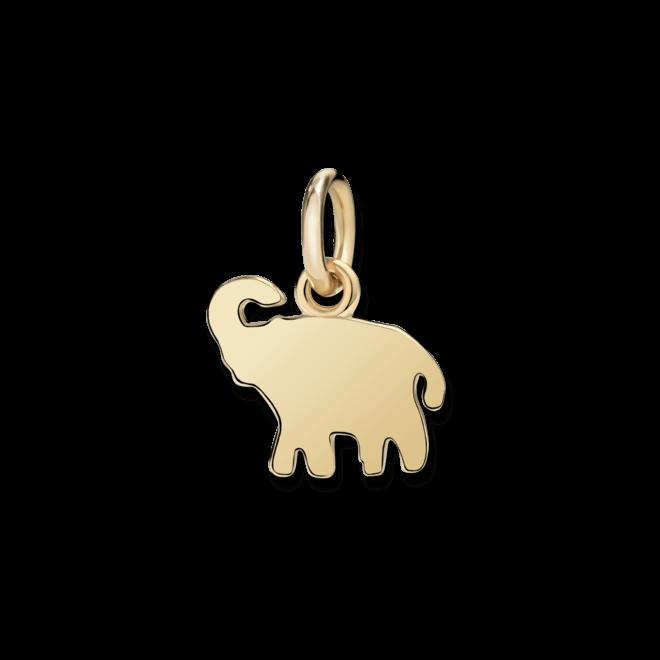 Charm Dodo Elefant (klein) aus 750 Gelbgold
