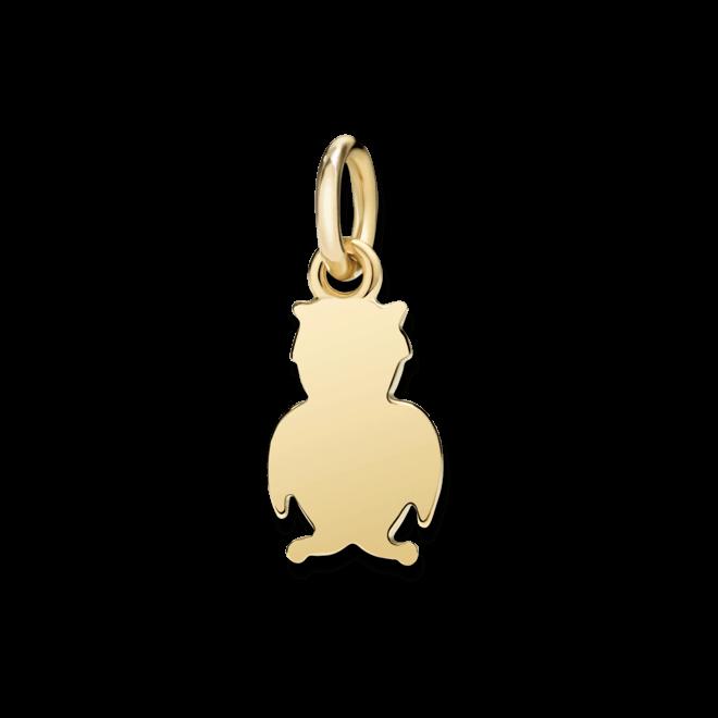 Charm Dodo Eule (klein) aus 750 Gelbgold