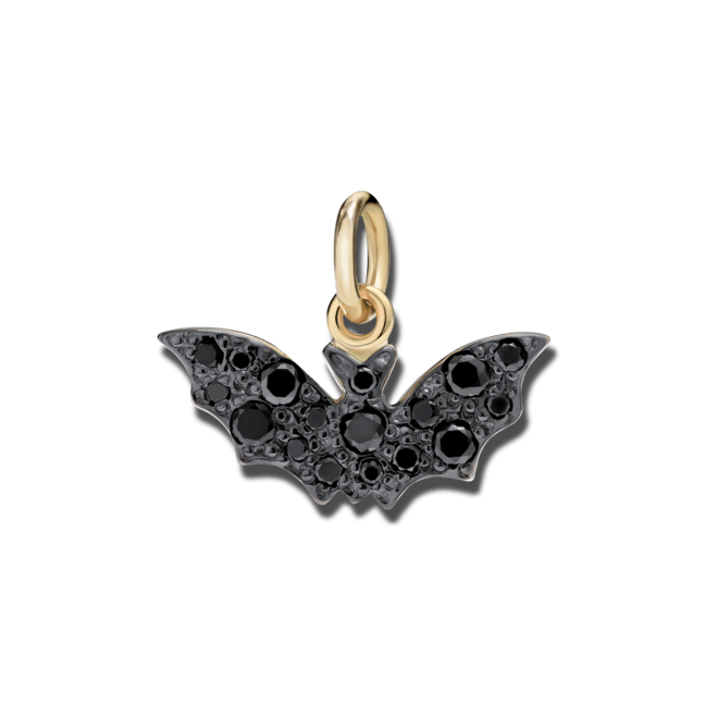 Charm Dodo Fledermaus (groß) aus 750 Gelbgold mit mehreren Diamanten (0,29 Karat)