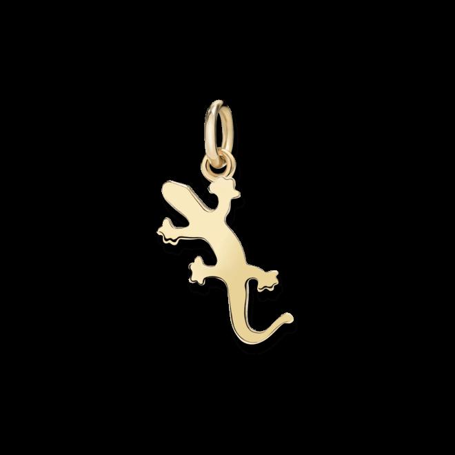 Charm Dodo Gecko (klein) aus 750 Gelbgold