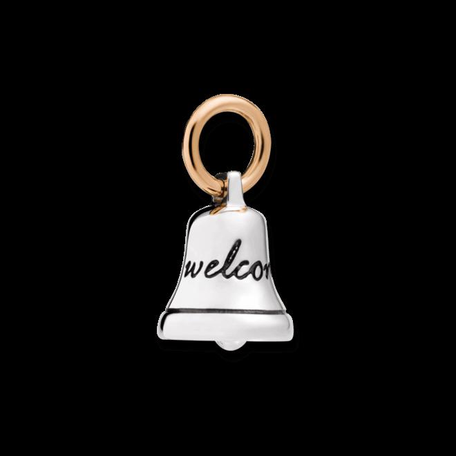 Charm Dodo Glocke aus 925 Sterlingsilber und 375 Roségold