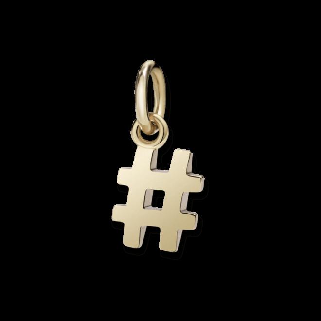 Charm Dodo Hashtag aus 375 Roségold