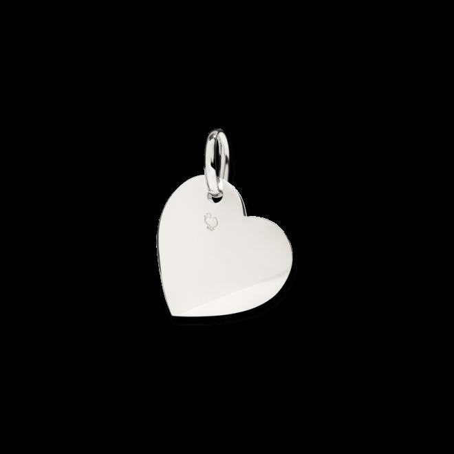 Charm Dodo Herz aus 925 Sterlingsilber