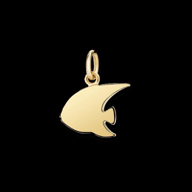 Charm Dodo Kaiserfisch (groß) aus 750 Gelbgold