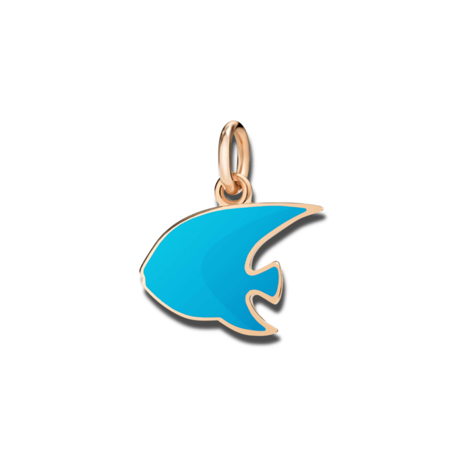 Charm Dodo Kaiserfisch (groß) aus 375 Roségold und Emaille bei Brogle