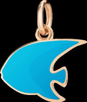 Charm Dodo Kaiserfisch (groß) aus 375 Roségold und Emaille