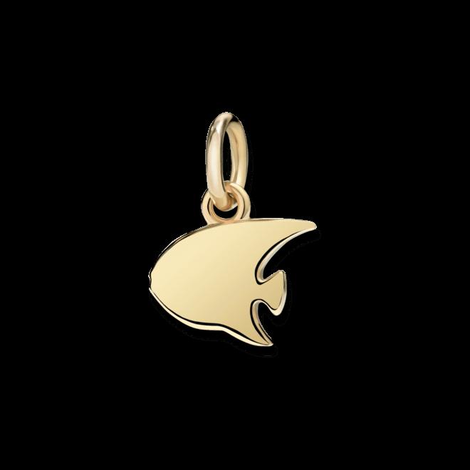 Charm Dodo Kaiserfisch (klein) aus 750 Gelbgold