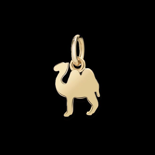 Charm Dodo Kamel (klein) aus 750 Gelbgold