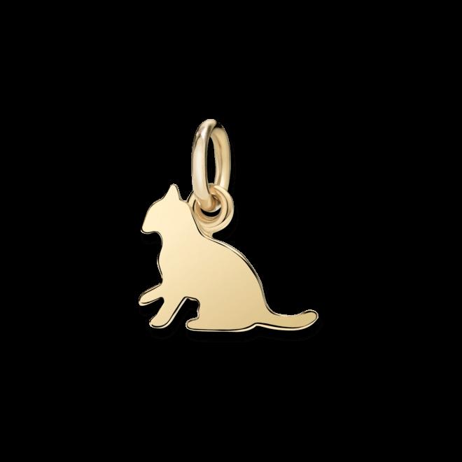 Charm Dodo Katze (klein) aus 750 Gelbgold