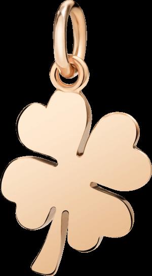 Charm Dodo Kleeblatt (groß) aus 375 Roségold