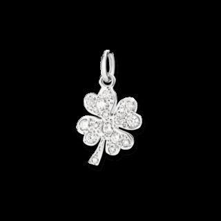 Dodo Charm Kleeblatt (groß) Diamant DMQDGOB/B