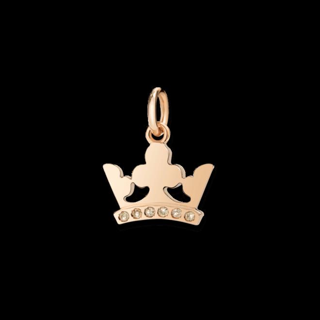 Charm Dodo Königskrone Diamant aus 375 Roségold mit 6 Diamanten (0,03 Karat)