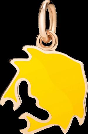 Charm Dodo Krebs (groß) aus 375 Roségold und Emaille