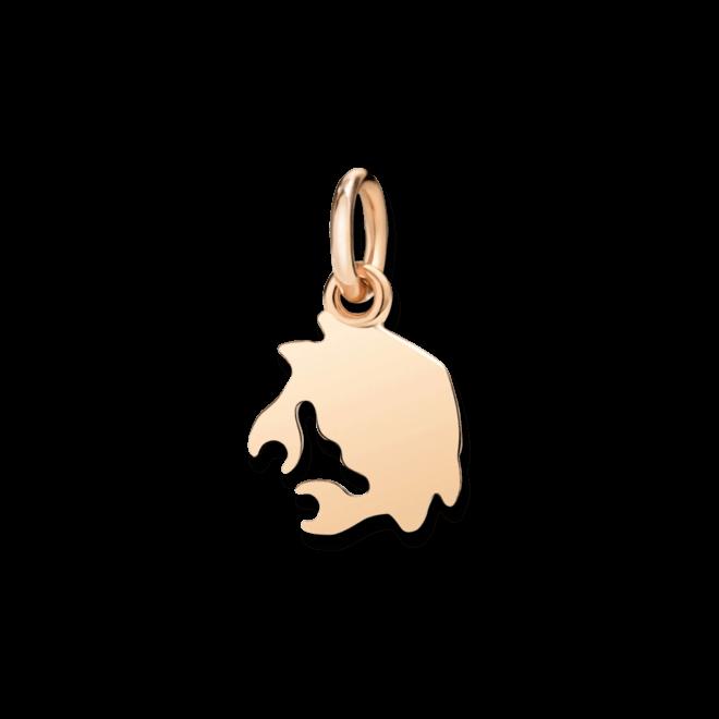 Charm Dodo Krebs (klein) aus 375 Roségold