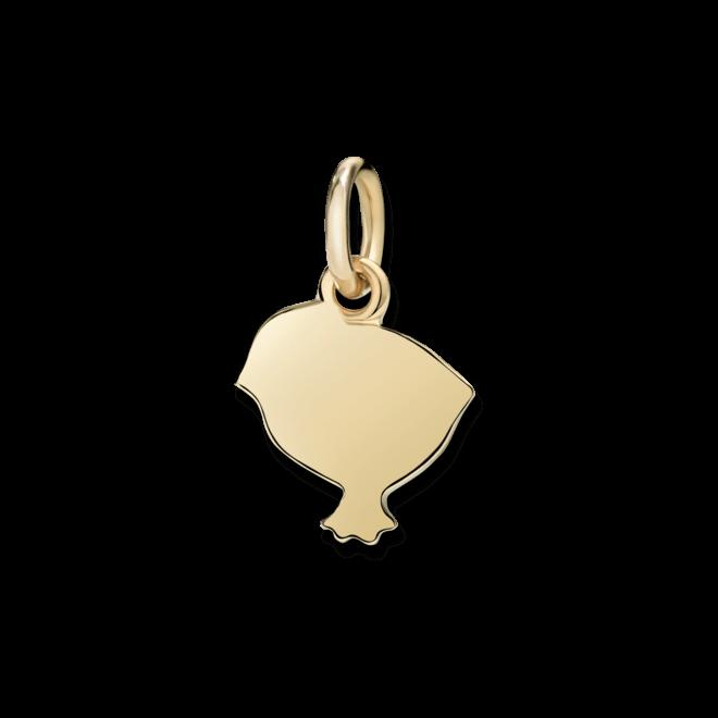 Charm Dodo Küken (klein) aus 750 Gelbgold