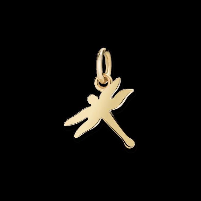 Charm Dodo Libelle (klein) aus 750 Gelbgold