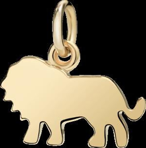Charm Dodo Löwe (groß) aus 750 Gelbgold