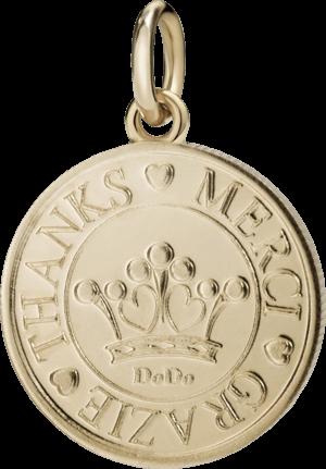 Charm Dodo Münze Grazie aus 375 Roségold