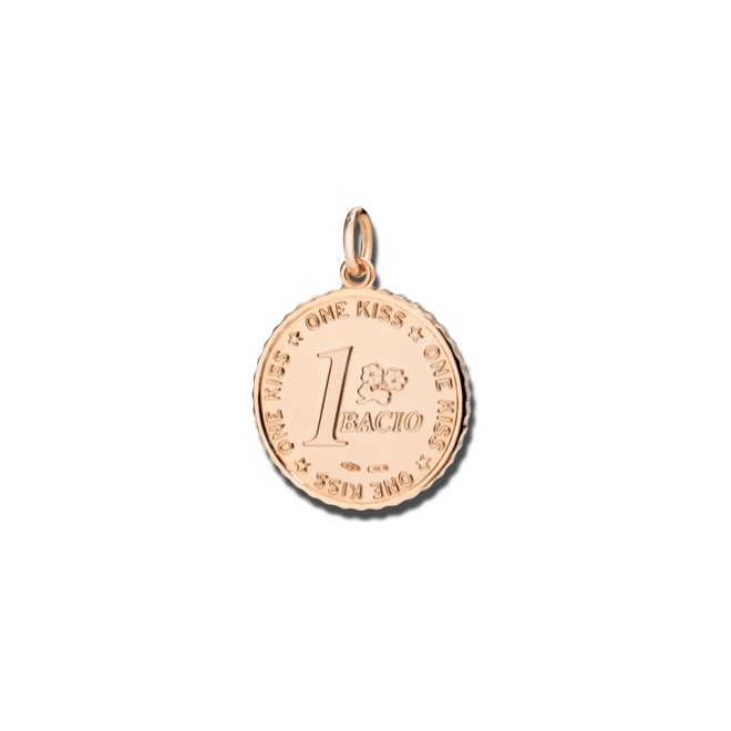 Charm Dodo Münze Uno Bacio aus 375 Roségold