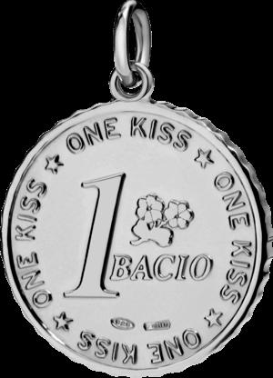 Charm Dodo Münze Uno Bacio Silber aus 925 Sterlingsilber