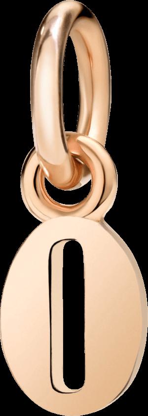 Charm Dodo Nummer 0 (klein) aus 375 Roségold