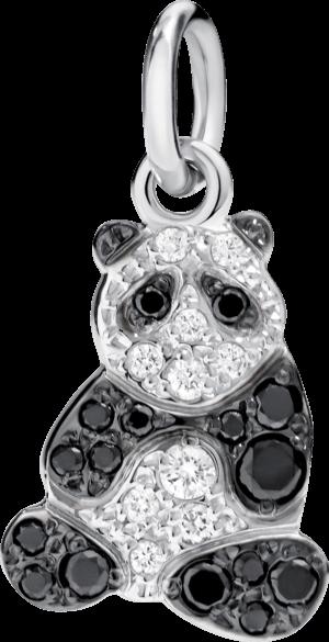 Charm Dodo Panda (groß) aus 750 Weißgold mit mehreren Diamanten (0,19 Karat)