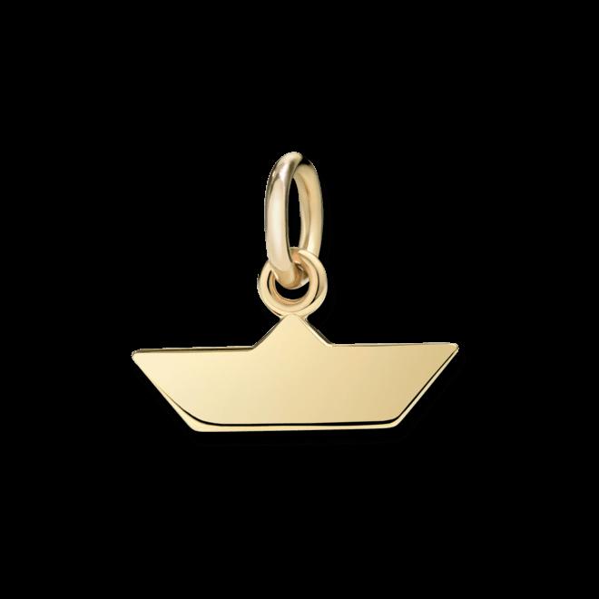Charm Dodo Papierboot (klein) aus 750 Gelbgold