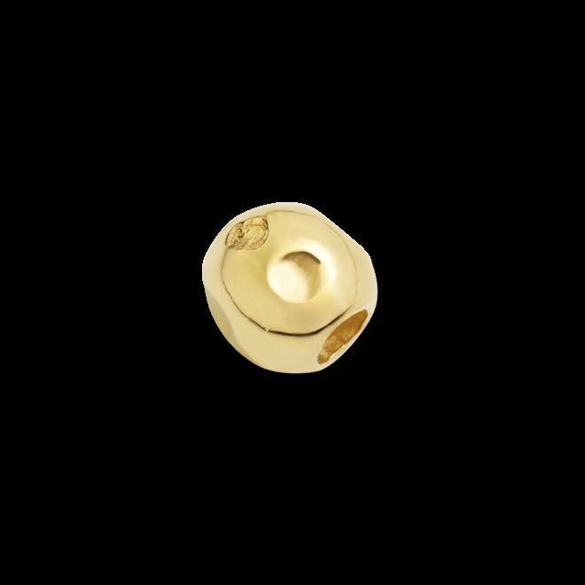 Bead Dodo Pebble aus 750 Gelbgold