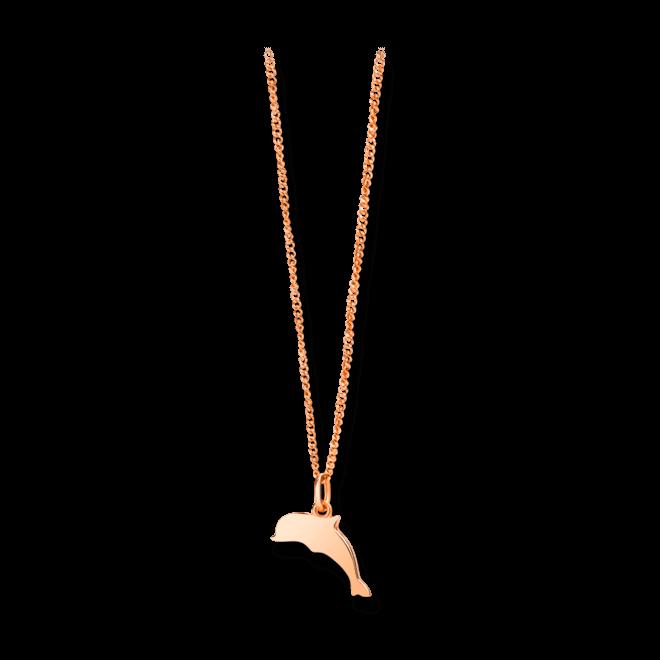 Halskette mit Anhänger Dodo Petit Dodo Delfin aus 375 Roségold