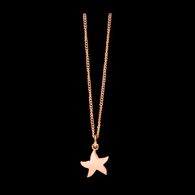 Halskette mit Anhänger Dodo Petit Dodo Seestern aus 375 Roségold