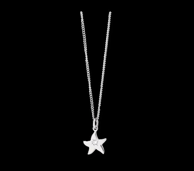 Halskette mit Anhänger Dodo Petit Dodo Seestern aus 750 Weißgold mit 1 Diamant