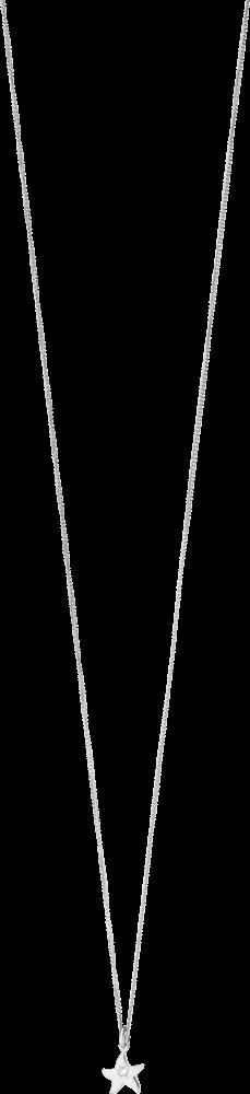 Halskette mit Anhänger Dodo Petit Dodo Seestern aus 750 Weißgold mit 1 Diamant (0,01 Karat)