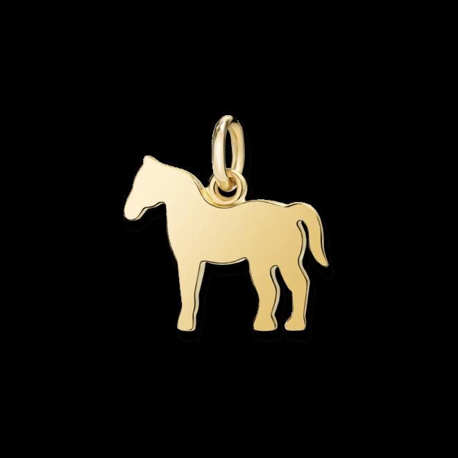 Charm Dodo Pferd (groß) aus 750 Gelbgold