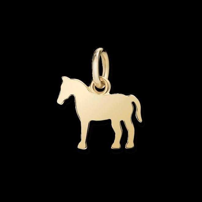 Charm Dodo Pferd (klein) aus 750 Gelbgold
