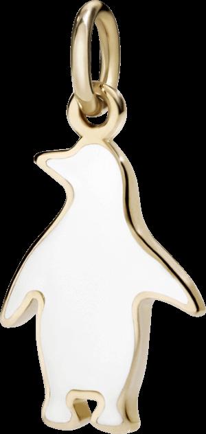 Charm Dodo Pinguin (groß) aus 375 Roségold und Emaille