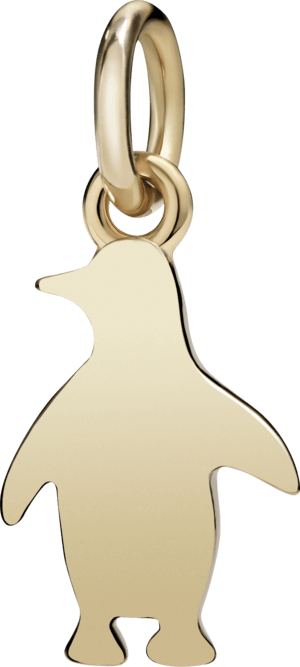 Charm Dodo Pinguin (klein) aus 375 Roségold